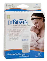 Dr.Brown Breastmilk Storage Bags 25ct