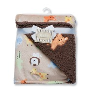 Rashti & Rashti Safari Print Reversible Receiving Blanket