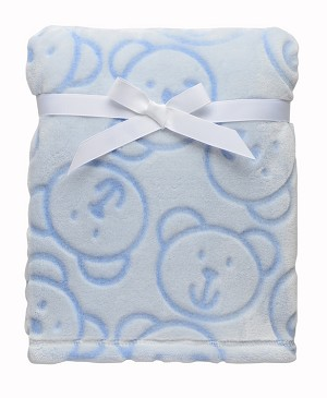 Baby Starters Sculpted Bears Blanket Blue