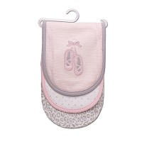 "Carter's ""Ballerina Shoes"" Burp Cloths 3 Pack"