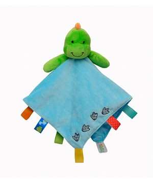 Taggies Plush Security Blanket Dino
