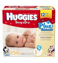 Huggies® Snug & Dry Plus Diapers Size: 1