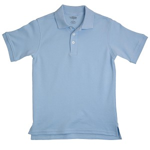 French Toast Interlock Polo, Lt. Blue