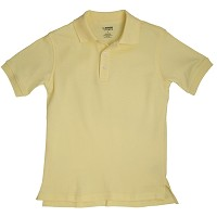 French Toast Interlock Polo, Yellow