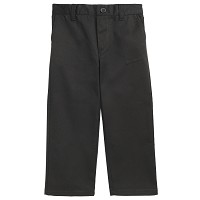 French Toast Toddler Boy's Pull On Pants, Black