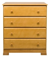 Million Dollar Baby Kalani 4 Drawer Dresser in Honey Oak