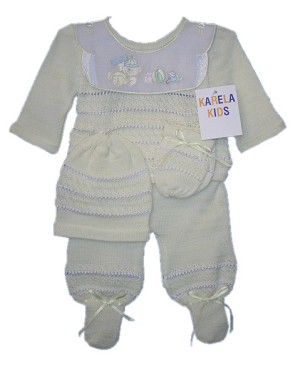 Karela 4PC Baby Set Yellow