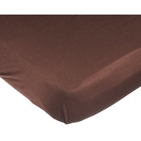 Kids Line Fitted Sheet in Chocolate