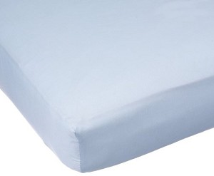 Carter's Sateen Easy-Fit Crib Sheet-Blue