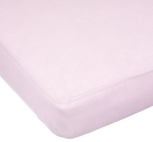 Kids Line Easy Fit Knit Jersey Crib Sheet in Pink by Carter's