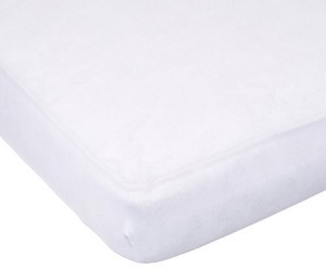 Carters Easy Fit Jersey Crib Fitted Sheet in White by Kids Line