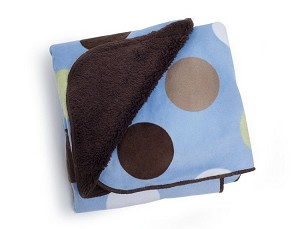 Carter's Velour Sherpa Blanket Blue Dot