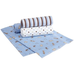 Carters 4 Pack Puppy Receiving Blankets