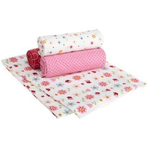 Kids Line Receiving Blanket Ladybug 4 PK