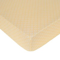 Kids Line Yellow Spots Crib Fitted Sheet