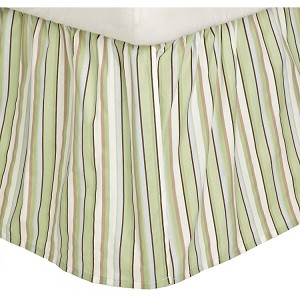 Kids Line Dust Ruffle Stripe Blue/Green