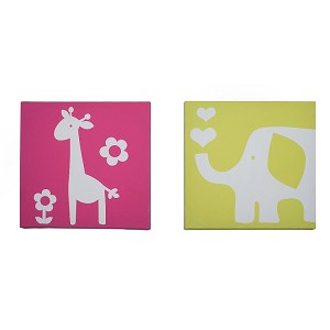 idsline Safari Brights 2pc Canvas Wall Art