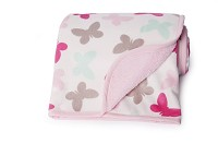 Carter's Velour Sherpa Blanket, Pink Multi  Butterfly