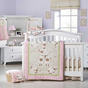 Kids Line Sweet Dreams 4-Pieces Crib Set