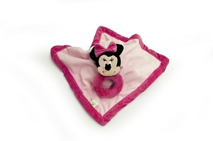 Disney Baby Minnie Security Blanket with Ring Rattle