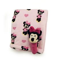Disney Baby Minnie Printed Boa Blanket With Rattle