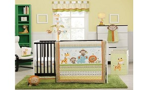 Kids Line Safari Party 4-Piece Crib Set