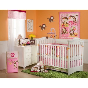 Kids Line Miss Monkey 4 Piece Crib Set