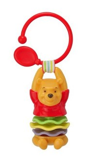 Kids Preferred Winnie the Pooh Clip on Rattle