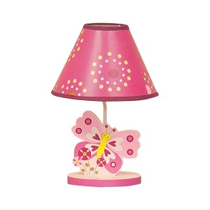 Bedtime Originals Pink Butterfly Lamp W/Shade & Bulb