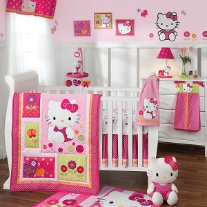 Lambs & Ivy Hello Kitty Garden 5 Piece Bedding Set