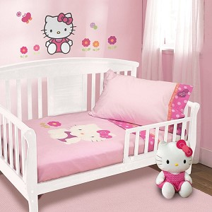 Lambs & Ivy Hello Kitty Garden Toddler Bedding Set