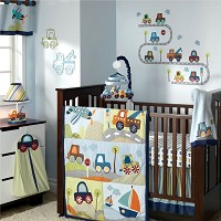Lambs & Ivy Little Traveler 7 Piece Crib Bedding Set