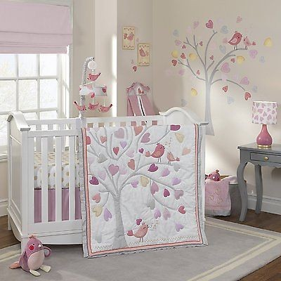 Lambs & Ivy Love Song Bedding Crib Set 5-Pieces