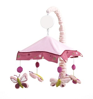 Lambs & Ivy Raspberry Swirl Musical Mobile