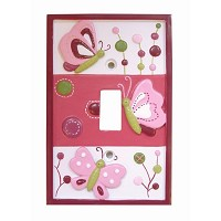 Lambs & Ivy Raspberry Swirl Switchplate Cover