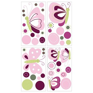 Lambs & Ivy Raspberry Swirl Wall Decals