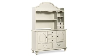 Legacy Classic Wendy Bellisimo Bookcase-Hutch French Whte
