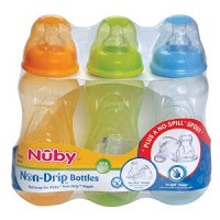 Nuby 3Pk Bottle 8oz Conventional