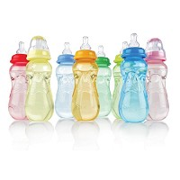 Nuby Non-Drip™ Bottle with Silicone Nipple, 10oz