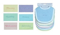 Nuby 7 Days of the Week Embroidered Bib