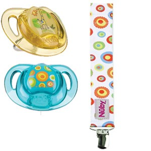 Nuby Pacifinder Prism Combo Pack, 0-6 Months