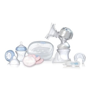 Nuby Natural Touch� Rhythm� Dual Action Electric Breast Pump and Sterilizer Kit