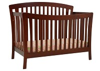 DaVinci Rivington 4-in-1 Convertible Crib with Toddler Rail in Cherry