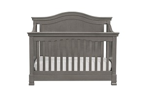 Million Dollar Baby Louis 4 in 1 Convertible Crib with Toddler Rail, Manor Gray