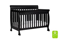 DaVinci Kalani 4 in 1 Convertible Crib with Toddler Bed Conversion Kit in Ebony Blac