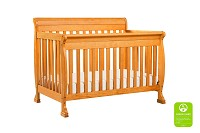 DaVinci Kalani 4-in-1 Convertible Crib with Toddler Bed Conversion Kit in Honey Oak