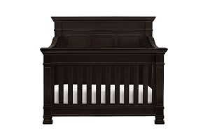Million Dollar Baby Classic Tillen 4 in 1 Convertible Crib with Toddler Rail, Dark Espresso