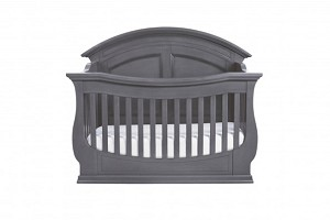 Million Dollar Baby Wakefield 4 in 1 Convertible Crib with Toddler Rail, Washed Grey