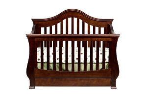 Million Dollar Baby Ashbury 4 in 1 Crib with Toddler Rail, Espresso
