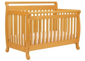 Million Dollar Baby Emily 4 in 1 Crib in Honey Oak